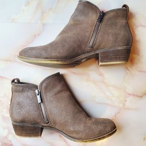 Lucky Brand Bartalino Brown Leather Ankle Boot